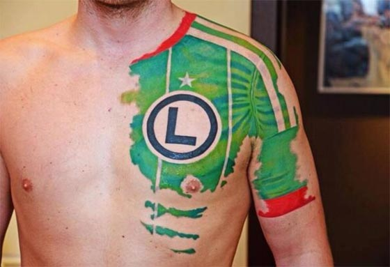 legia Warsaw tattoo